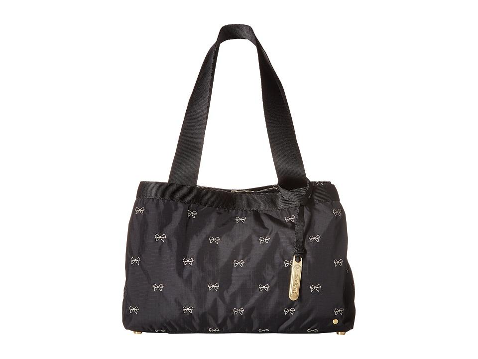 LeSportsac - Mercer Tote (Petite Bows Black) Tote Handbags