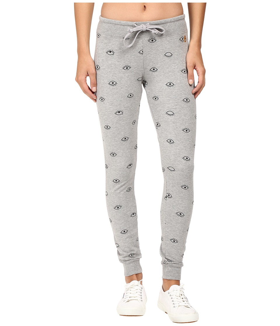 Spiritual Gangster - Evil Eye Sweatpants (Heather Grey) Women's Casual Pants