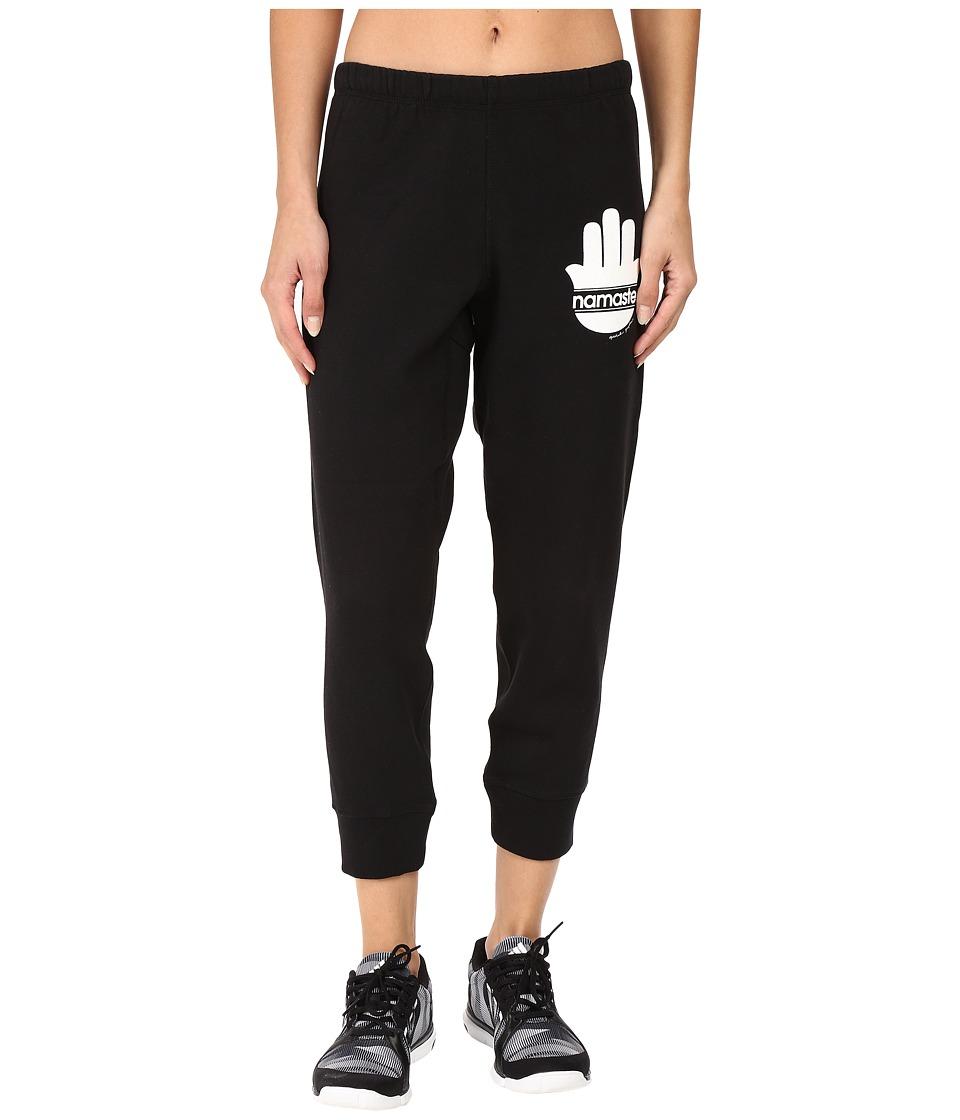 Spiritual Gangster - Namaste Stripes Dharma Pants (Vintage Black) Women's Casual Pants