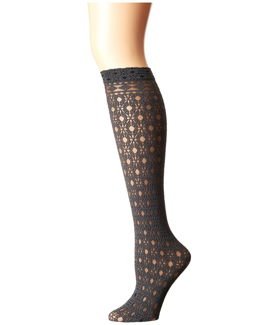 Falke - Trimming Knee High (Black) Women's Knee High Socks Shoes