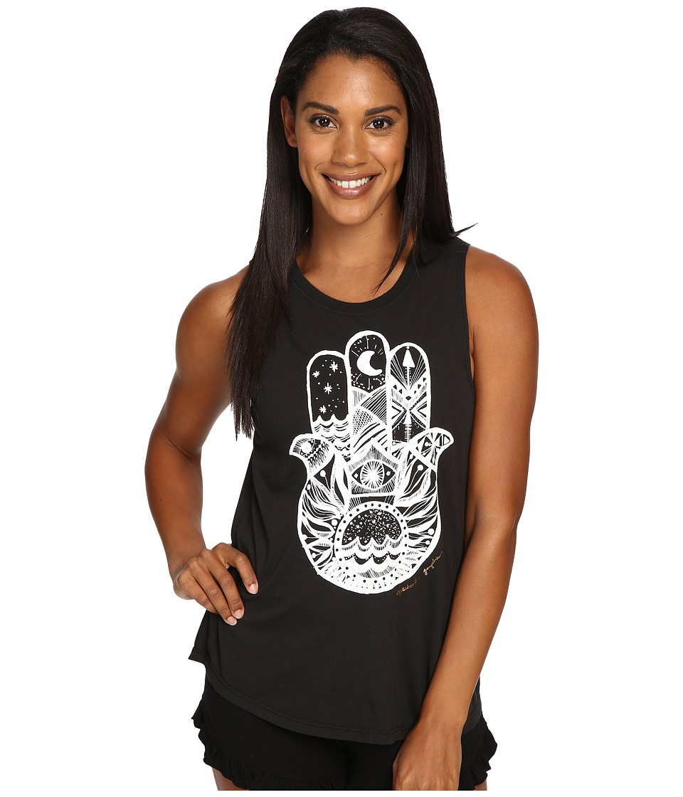 Spiritual Gangster - Hamsa Waves (Vintage Black) Women's Workout