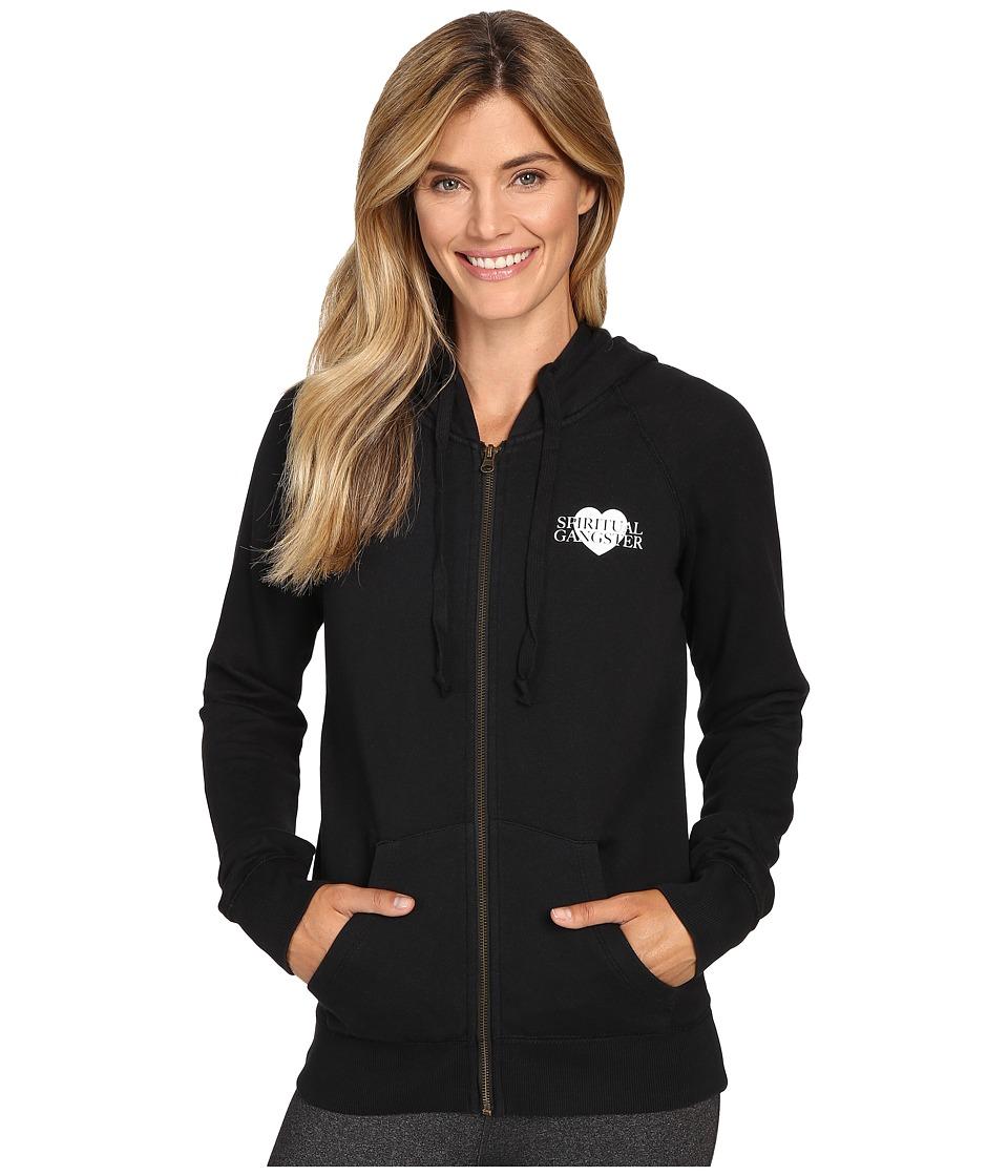 Spiritual Gangster - SG Love Dharma Zip Hoodie (Vintage Black) Women's Sweatshirt