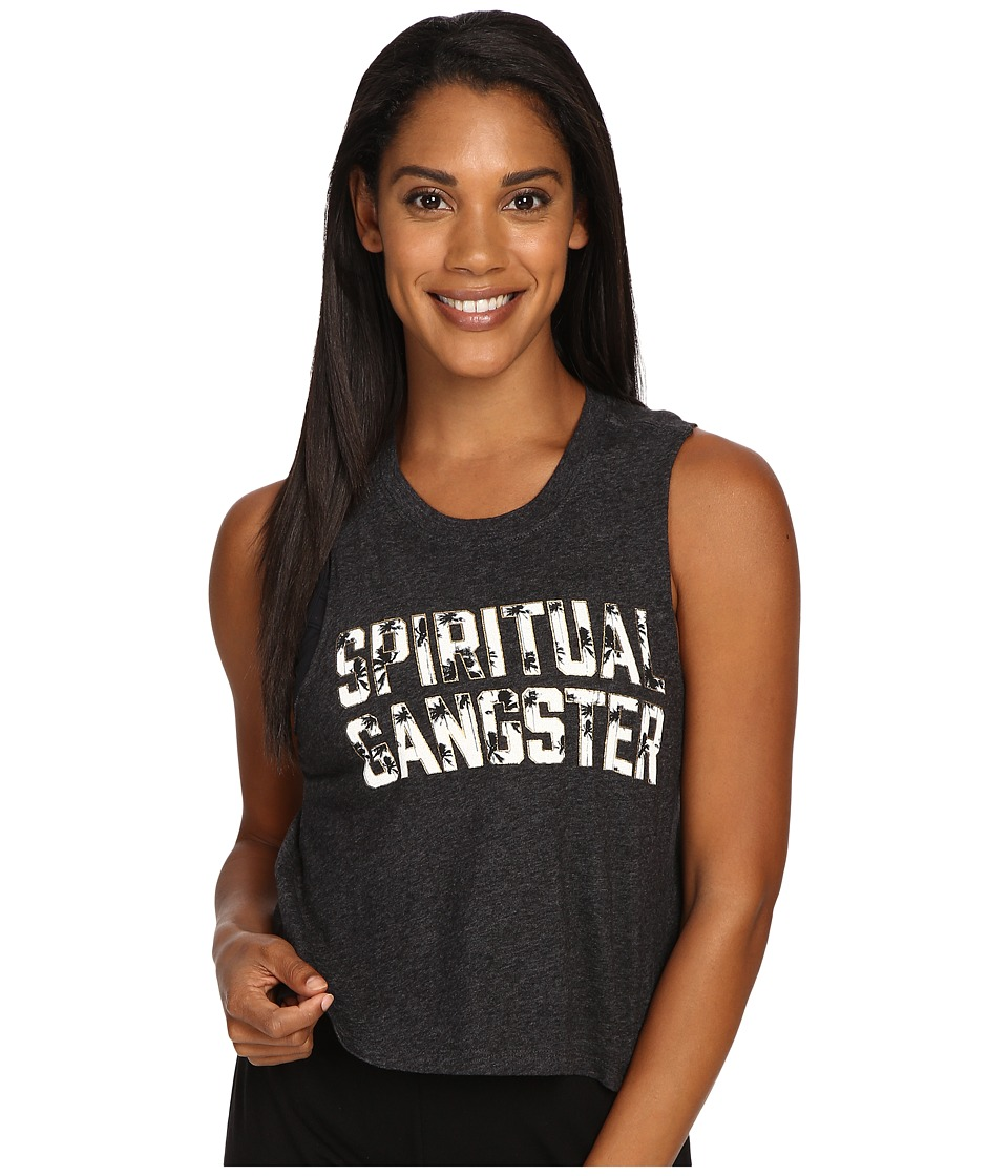Spiritual Gangster - SG Palms (Vintage Black) Women's Workout