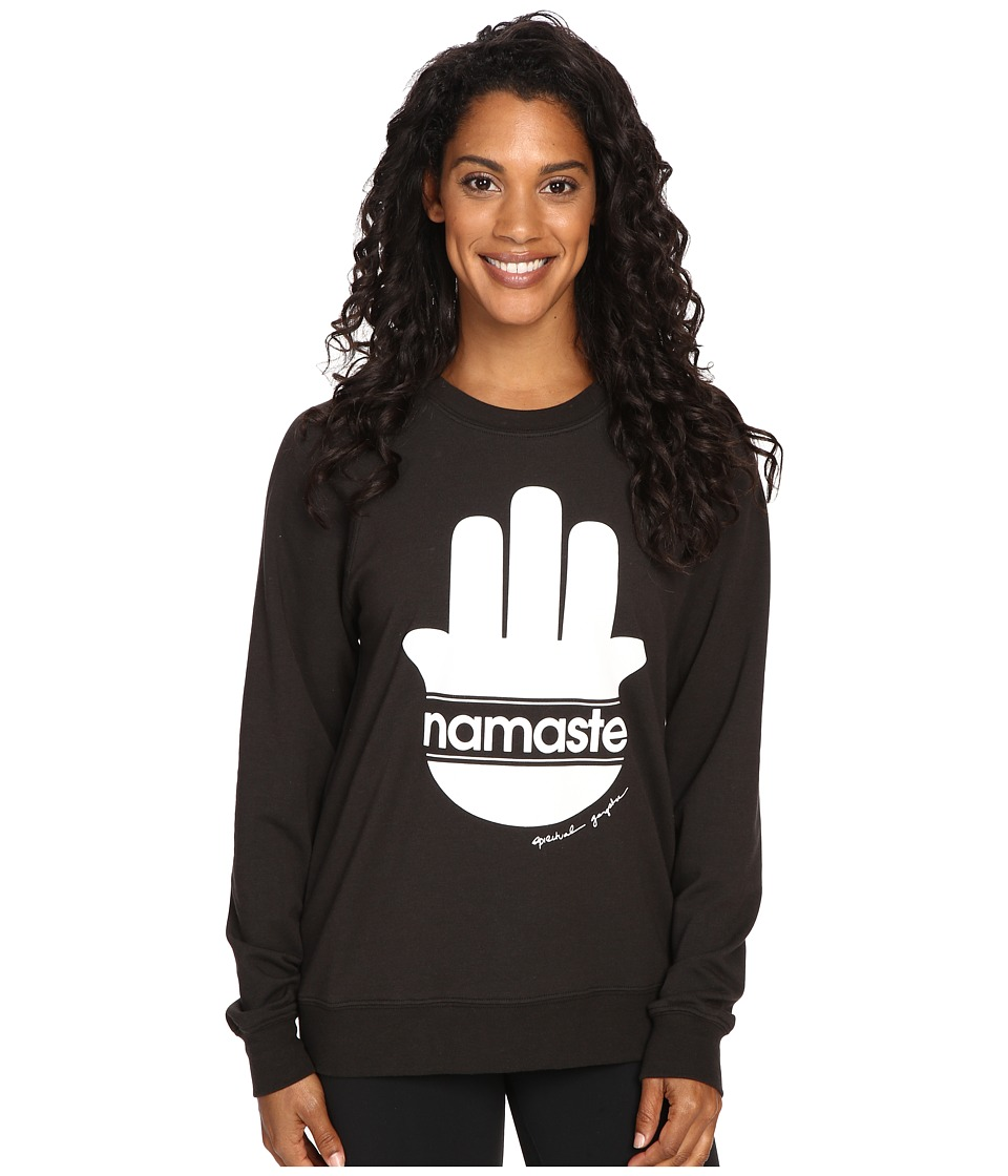 Spiritual Gangster - Namsate Stripes Muse Raglan Sweatshirt (Vintage Black) Women's Sweatshirt