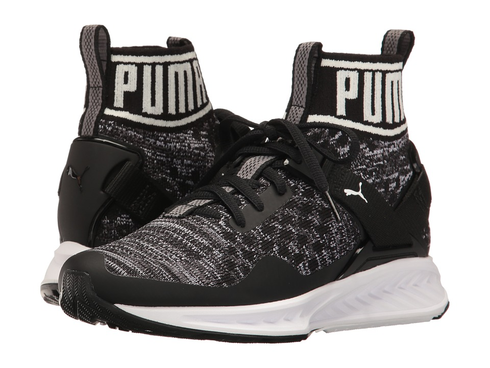 Puma Kids - Ignite Evoknit Jr (Big Kid) (Puma Black/Quiet Shade) Boys Shoes