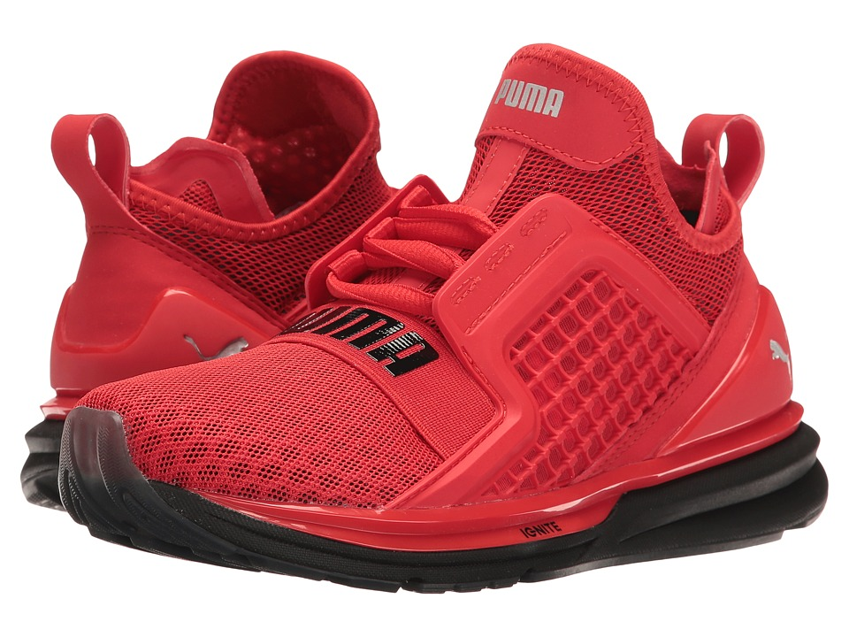 Puma Kids - Ignite Limitless Jr (Big Kid) (High Risk Red/High Risk Red) Boys Shoes