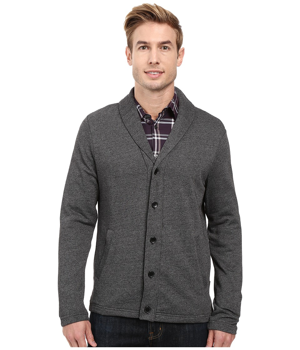 Perry Ellis - Shawl Button Front Cardigan (Black) Men's Sweater
