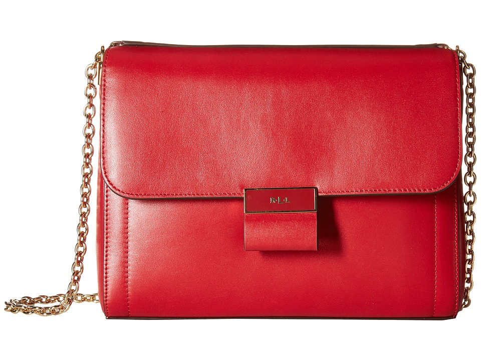 LAUREN Ralph Lauren - Lynwood Jude Shoulder Bag (Crimson) Shoulder Handbags