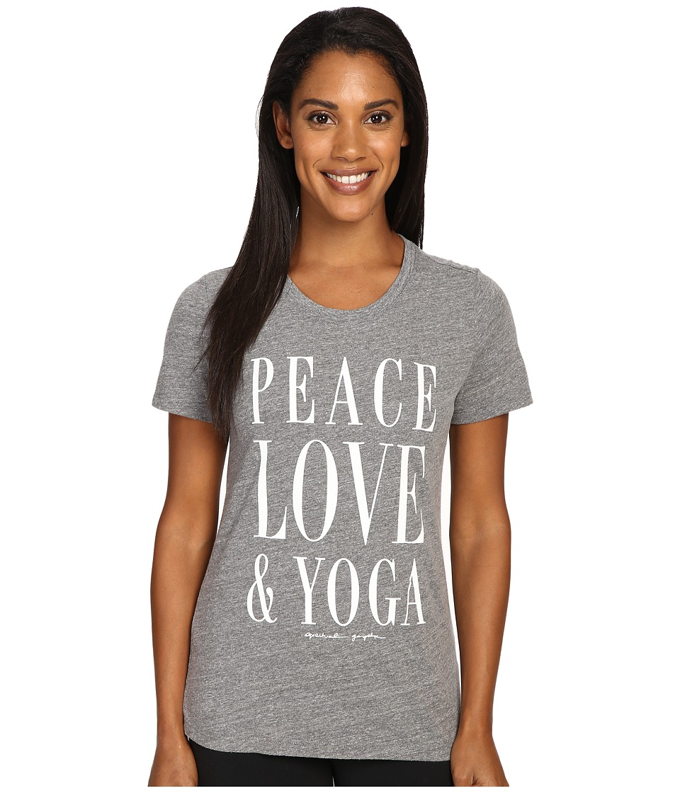 Spiritual Gangster - Peace Love Yoga (Heather Grey) Women's Workout
