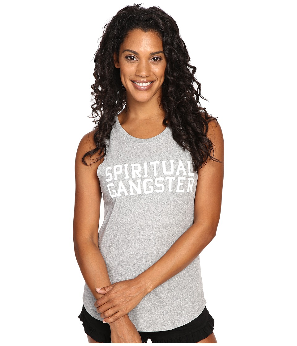Spiritual Gangster - SG Varsity Muscle Tank Top (Heather Grey) Women's Sleeveless