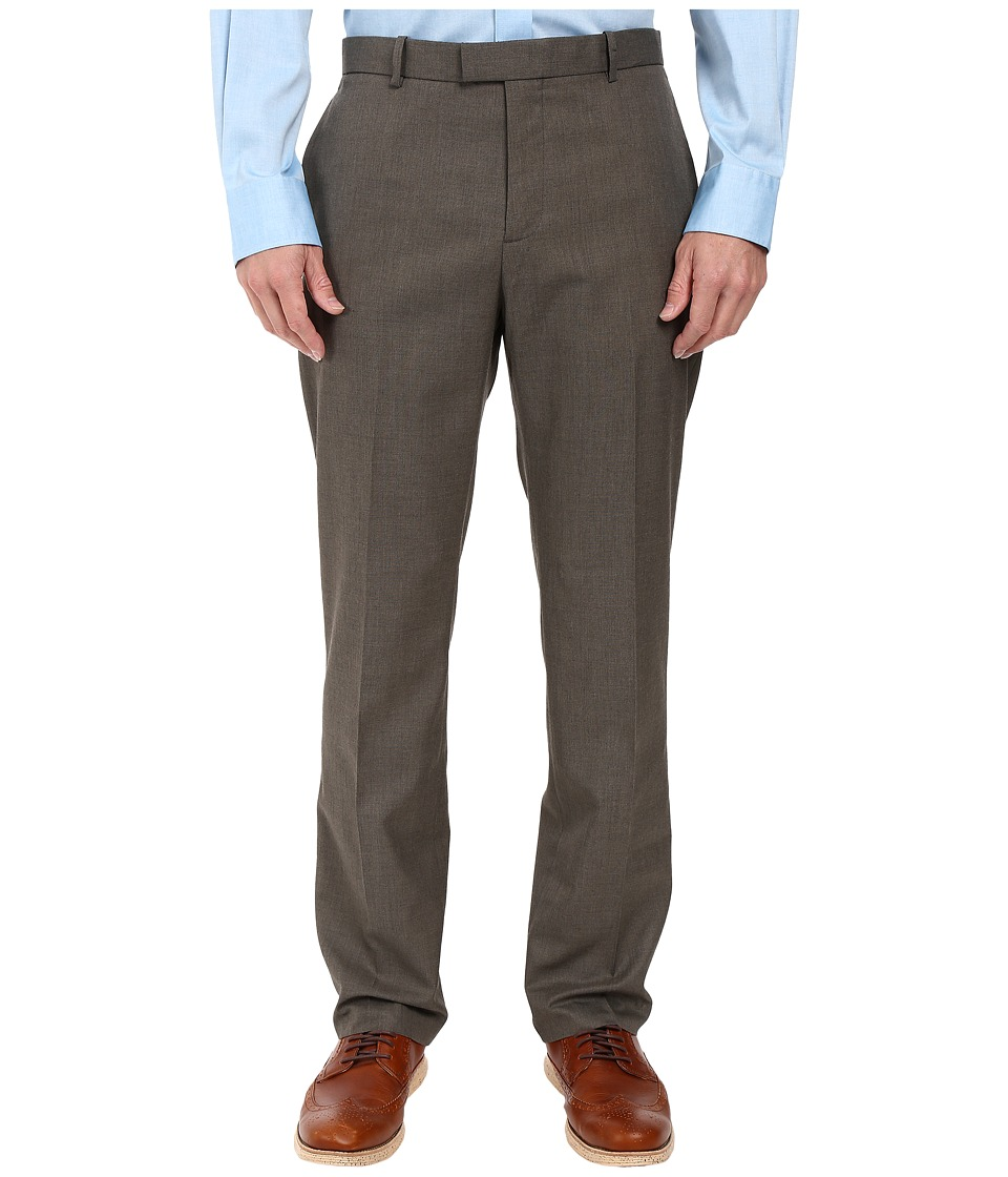 Perry Ellis - Regular Fit Pattern Twill Dress Pants (Chinchilla) Men's Casual Pants