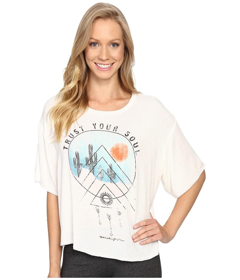 Spiritual Gangster - Desert Soul Vinyasa Tee (Stardust) Women's T Shirt