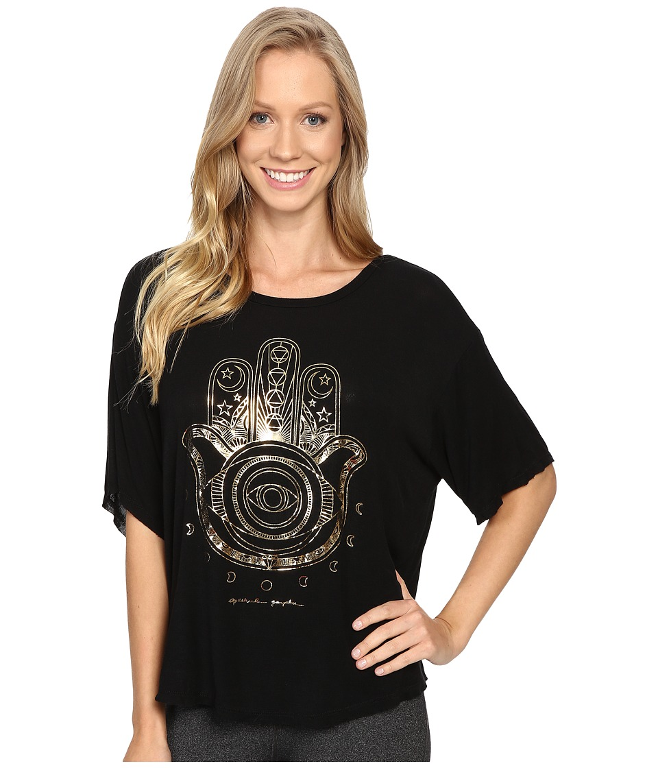 Spiritual Gangster - Native Hamsa Vinyasa Tee (Black) Women's T Shirt