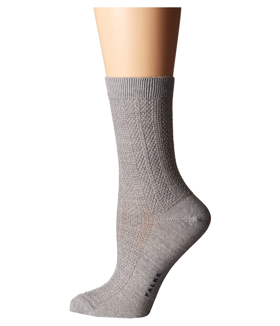 Falke - Amore Ankle (Light Grey) Women's Crew Cut Socks Shoes
