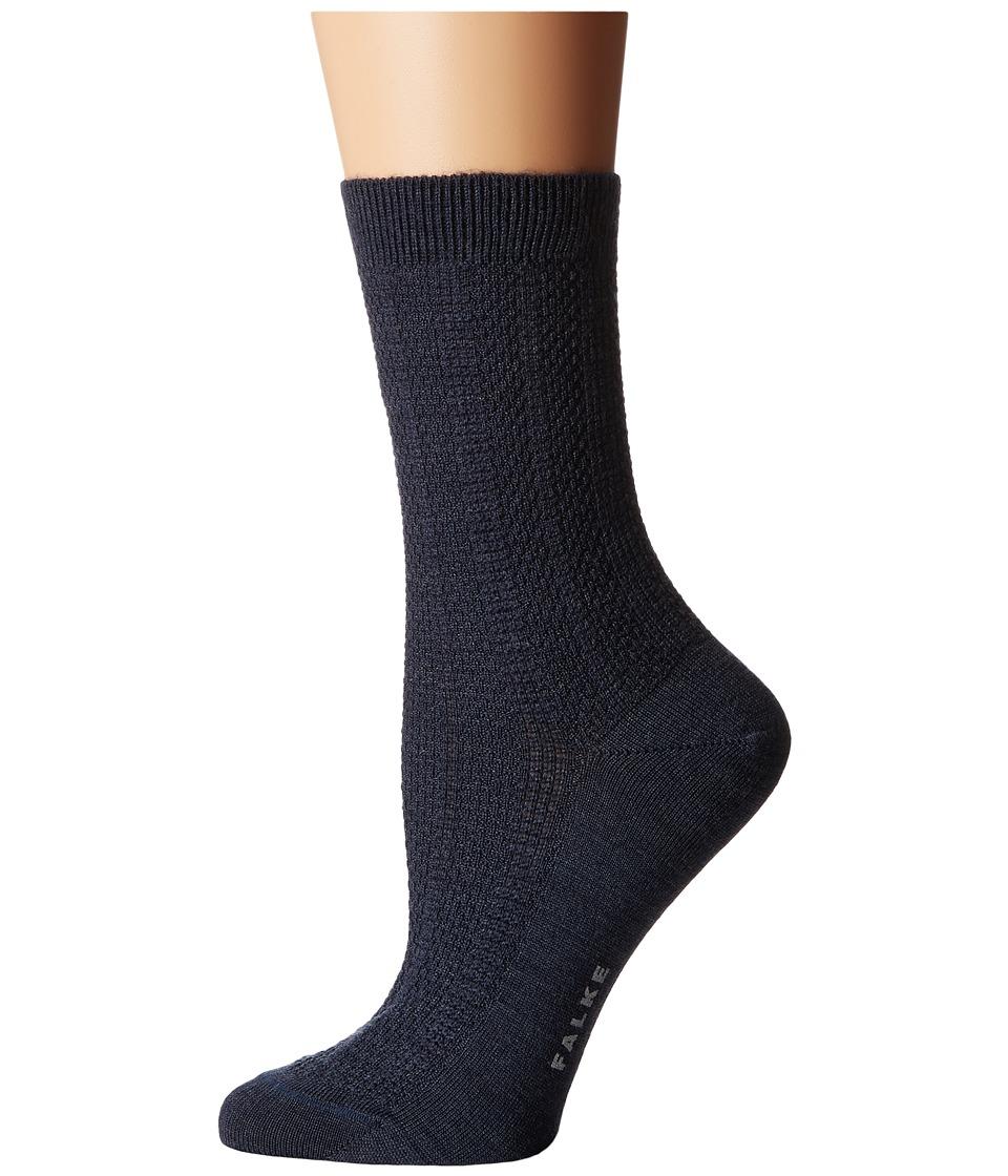 Falke - Amore Ankle (Dark Blue Melange) Women's Crew Cut Socks Shoes