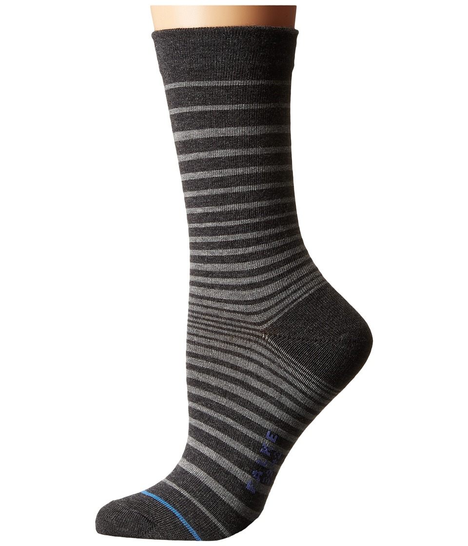 Falke - Micro Stripe Ankle (Anthracite Mix) Women's Crew Cut Socks Shoes