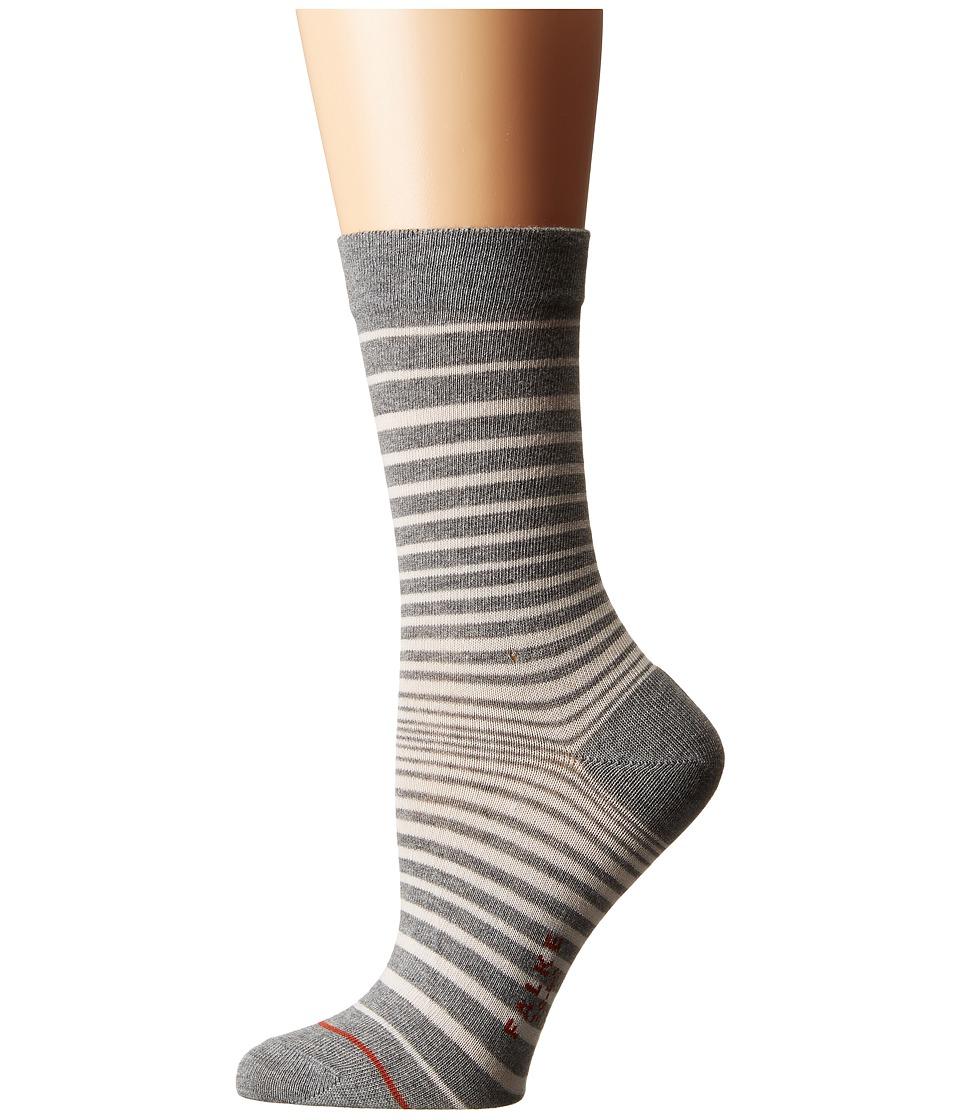 Falke - Micro Stripe Ankle (Grey Mix) Women's Crew Cut Socks Shoes