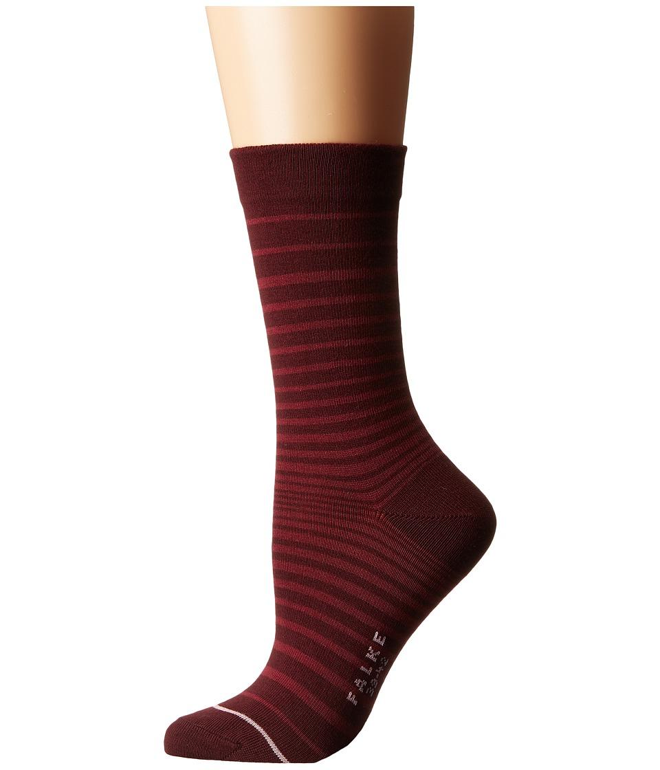 Falke - Micro Stripe Ankle (Agate) Women's Crew Cut Socks Shoes