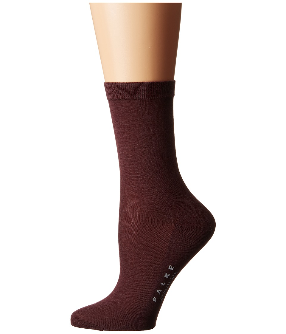 Falke - Sensual Silk Ankle (Agate) Women's Crew Cut Socks Shoes