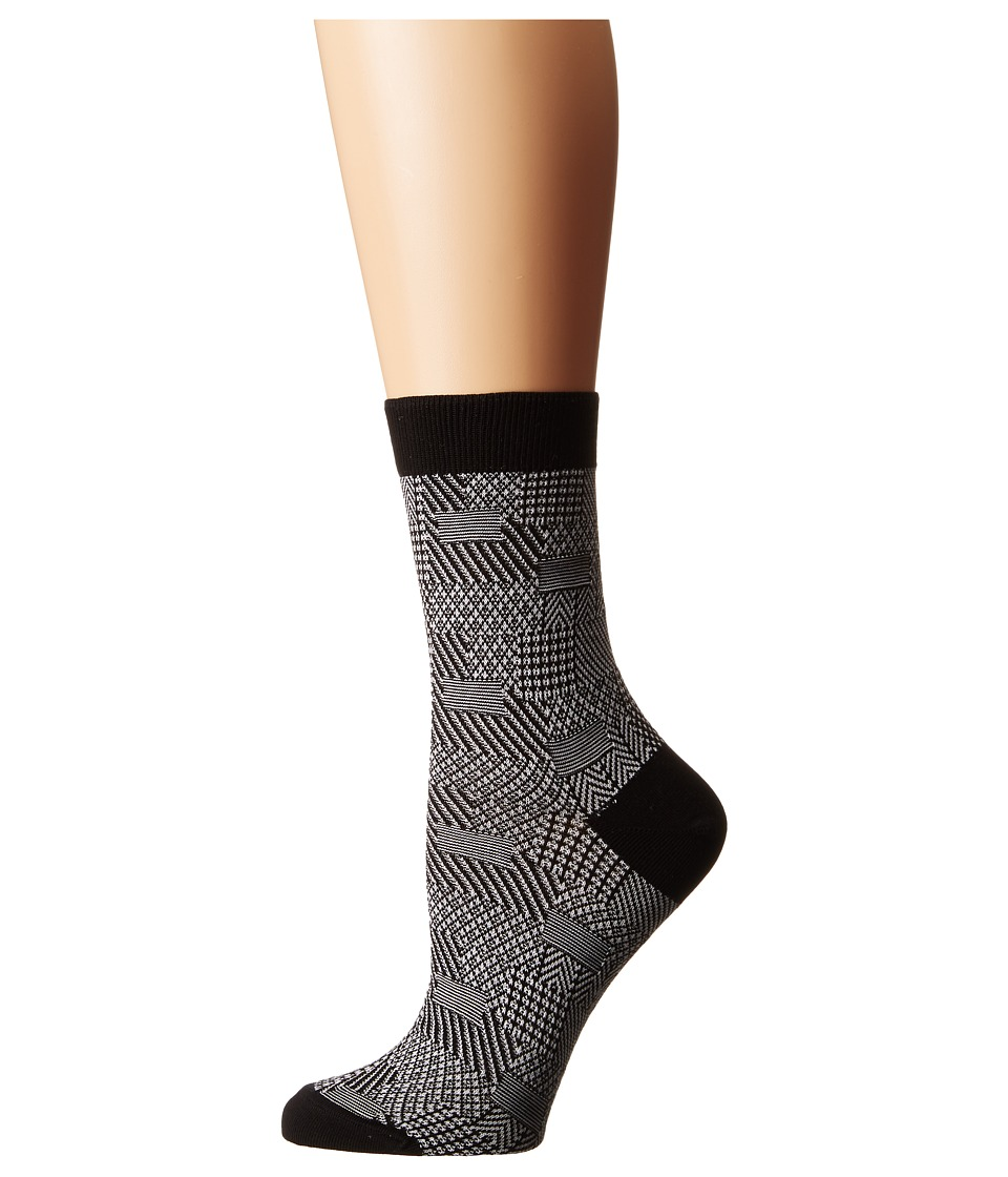 Falke - Patch Made (Black) Women's Crew Cut Socks Shoes