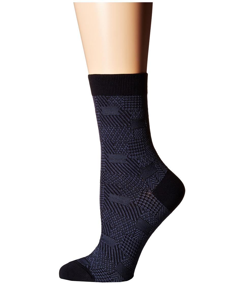 Falke - Patch Made (Dark Navy) Women's Crew Cut Socks Shoes