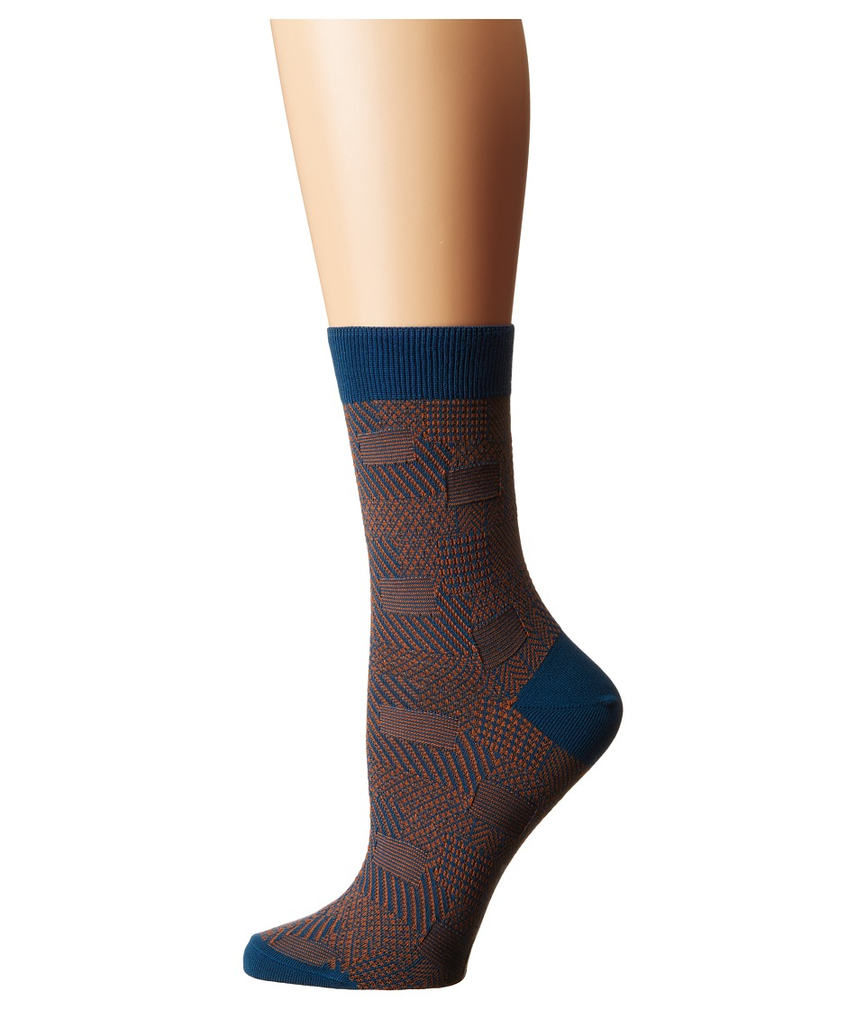 Falke - Patch Made (Teal) Women's Crew Cut Socks Shoes