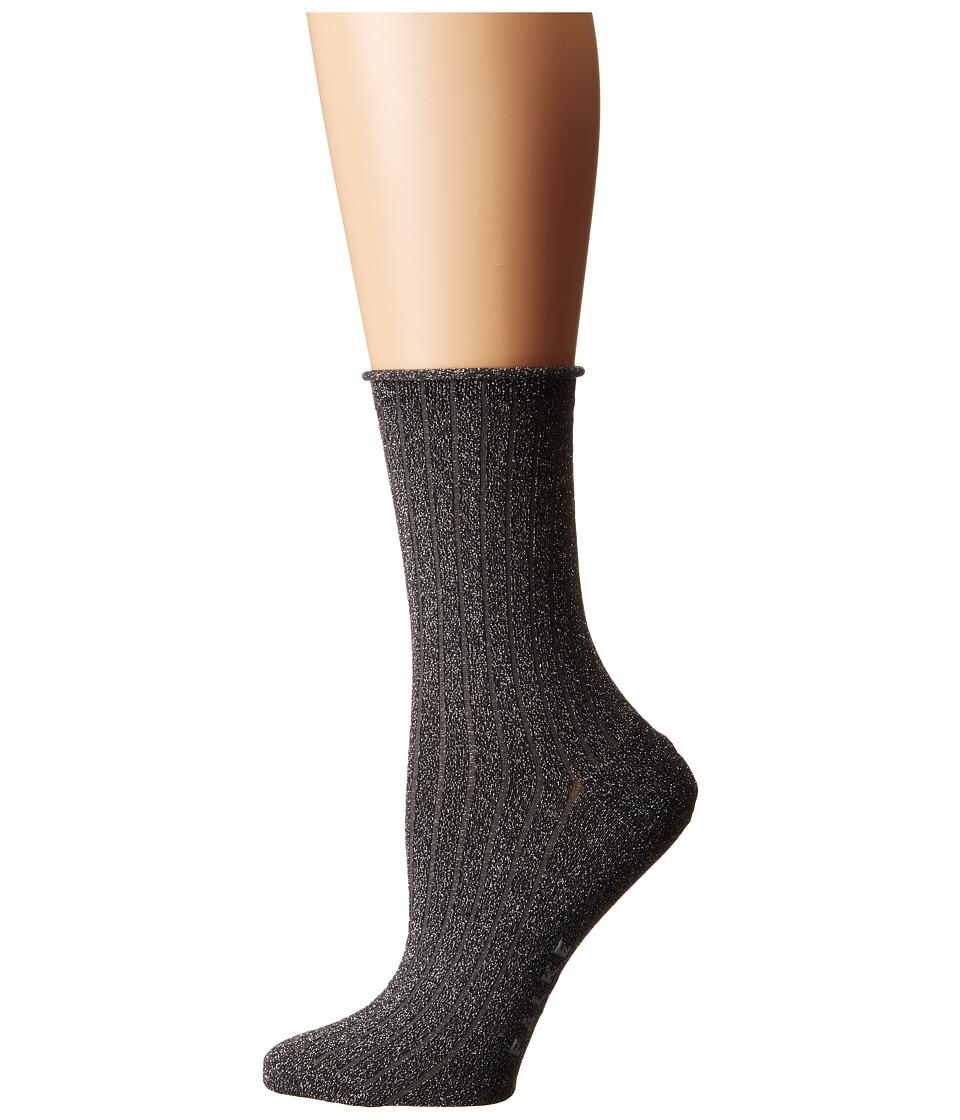 Falke - Free Time Ankle (Black) Women's Crew Cut Socks Shoes