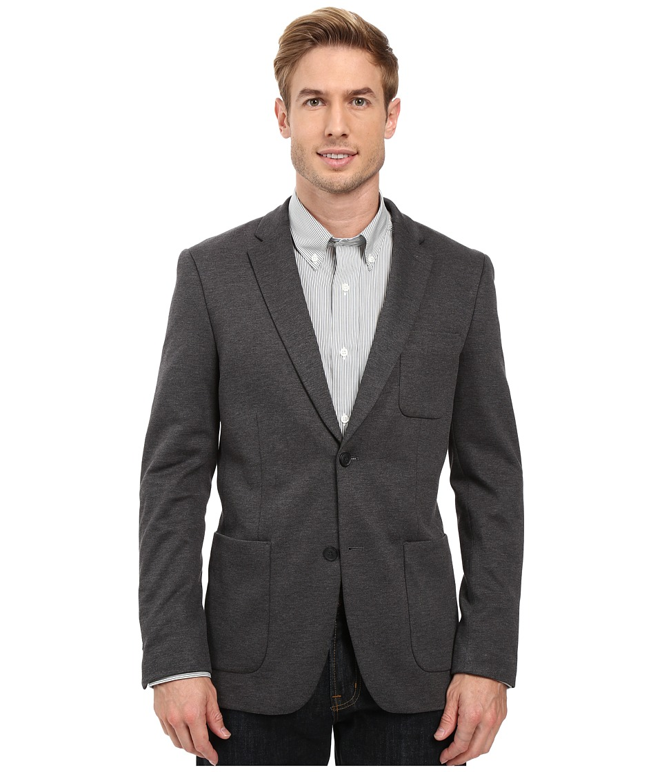 Perry Ellis - Very Slim Knit Sport Jacket (Charcoal) Men's Jacket