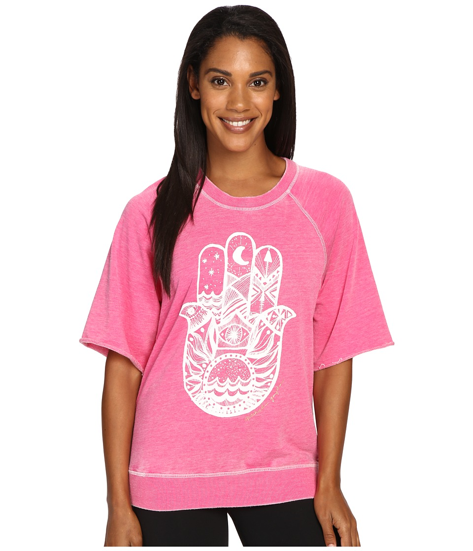 Spiritual Gangster - Hamsa Waves (Hibiscus) Women's Workout