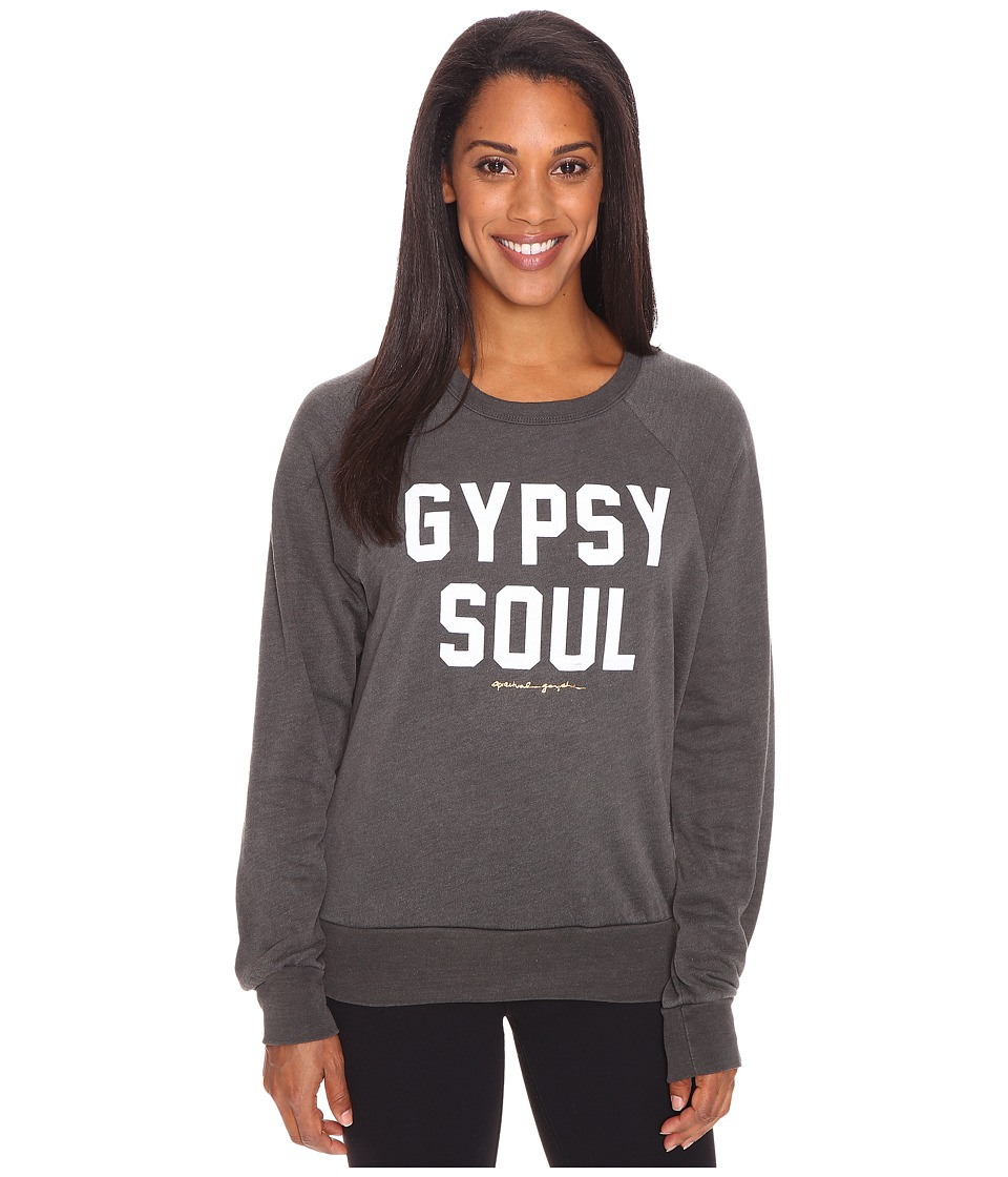 Spiritual Gangster - Gypsy Soul Old School Pullover (Vintage Black) Women's Clothing