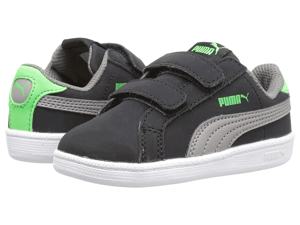 Puma Kids - Smash Fun Buck V INF (Toddler) (Puma Black/Steel Gray) Boys Shoes
