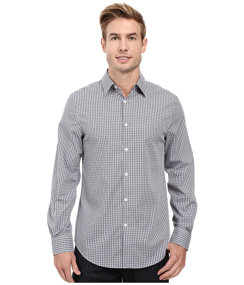 Perry Ellis - Regular Fit Non Iron Color Check Pattern Shirt (Midnight Plum) Men's Clothing