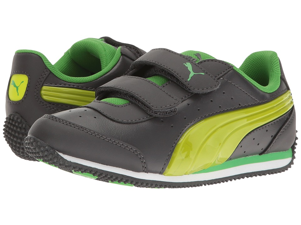 Puma Kids - Speed Light Up Power V PS (Little Kid/Big Kid) (Asphalt/Limepunch) Boys Shoes