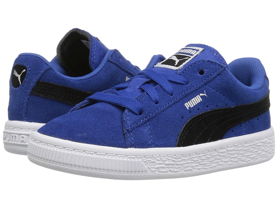 Puma Kids Puma Suede Inf (Toddler) (True Blue/Puma Black) Boys Shoes