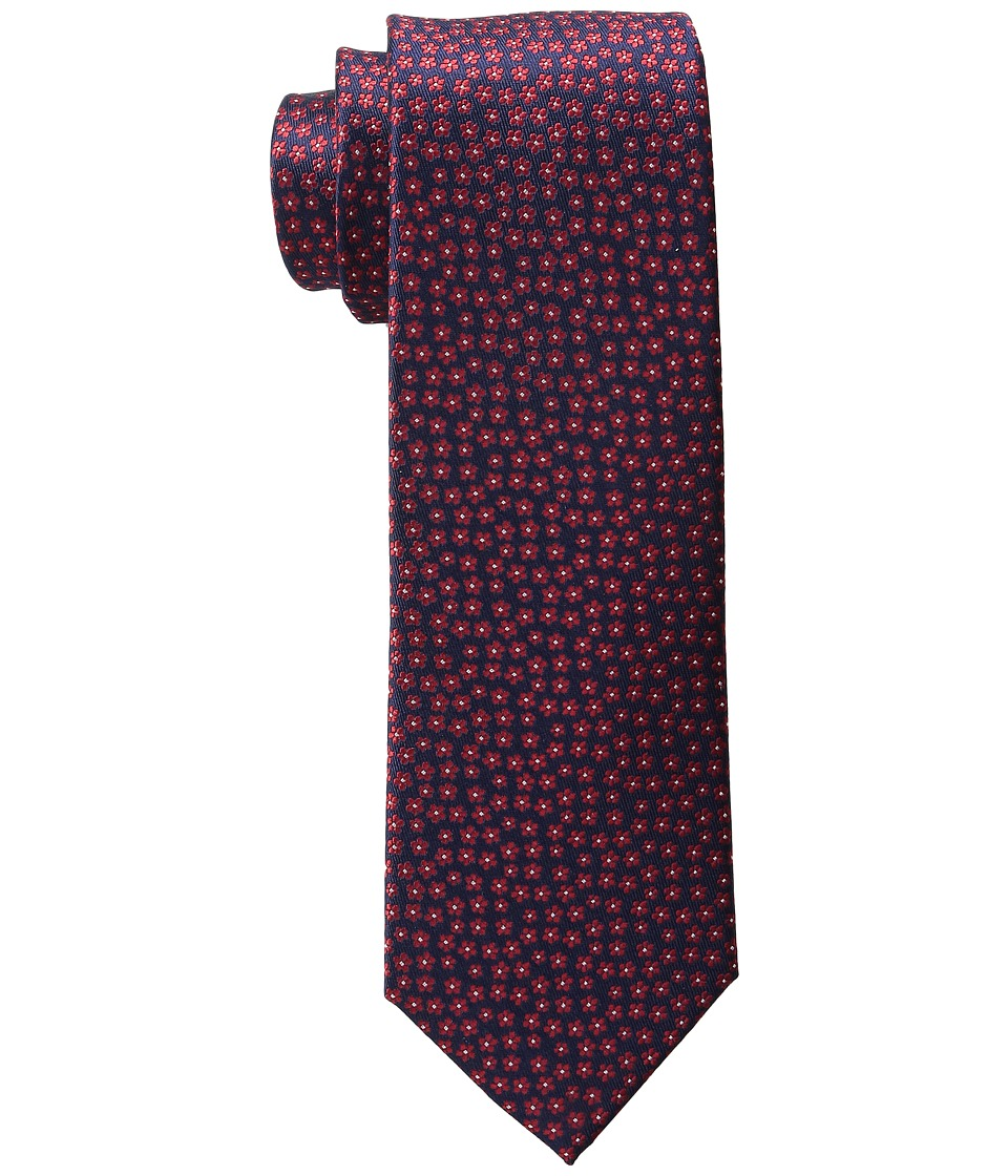Tommy Hilfiger - Micro Flower (Red) Ties