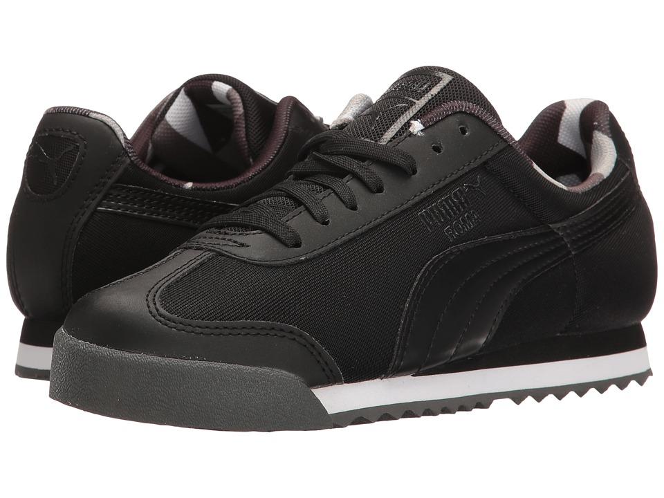 Puma Kids - Roma Basic Geometric Camo Jr (Big Kid) (Puma Black/Puma Black) Boys Shoes