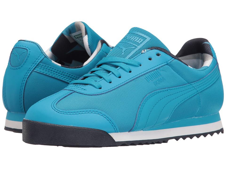 Puma Kids - Roma Basic Geometric Camo Jr (Big Kid) (Blue Danube/Blue Danube) Boys Shoes
