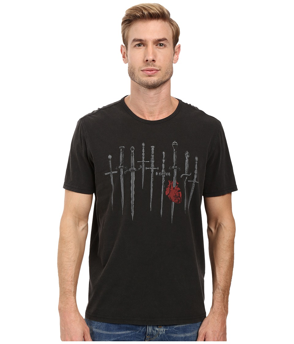 John Varvatos Star U.S.A. - Daggers Graphic Tee K2709S2B (Black) Men's T Shirt