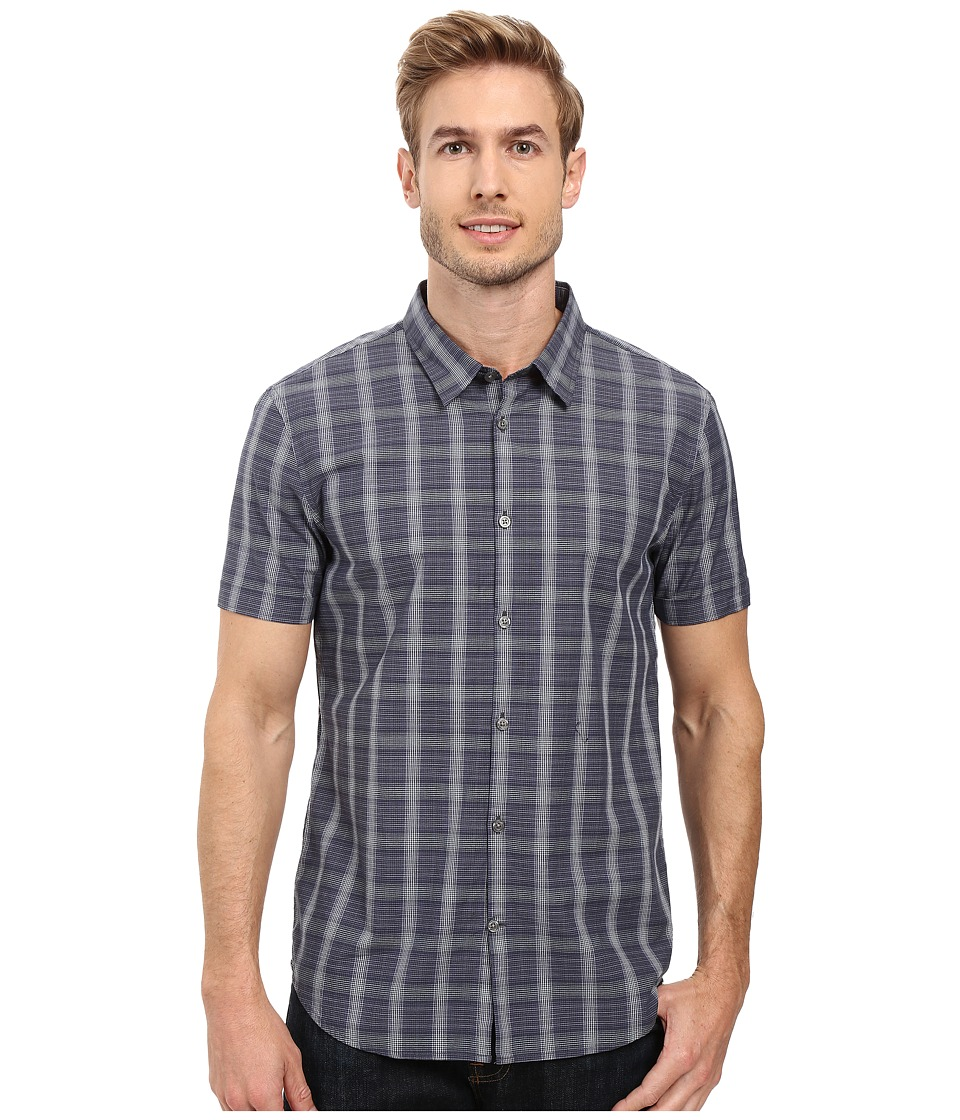 John Varvatos Star U.S.A. - Slim Fit Sport Shirt with Cuffed Short Sleeves W443S2B (Dusted Blue) Men's Short Sleeve Button Up