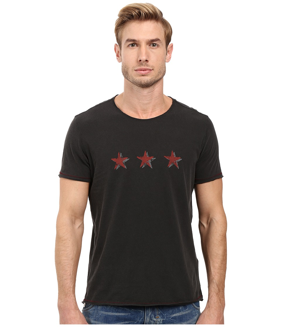 John Varvatos Star U.S.A. - 3-Star Graphic Tee K2719S2B (Black) Men's T Shirt