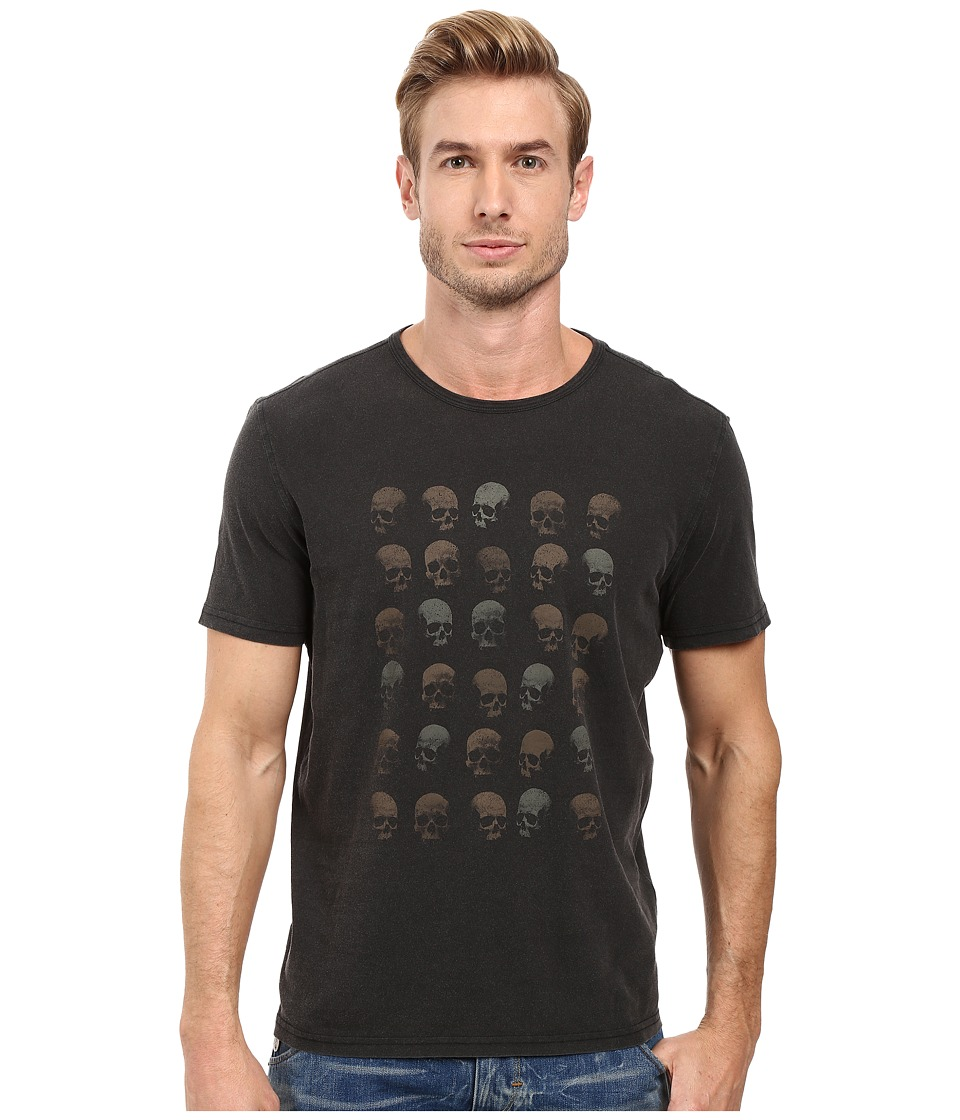 John Varvatos Star U.S.A. - Rows of Skulls Graphic Tee K2713S2B (Black) Men's T Shirt