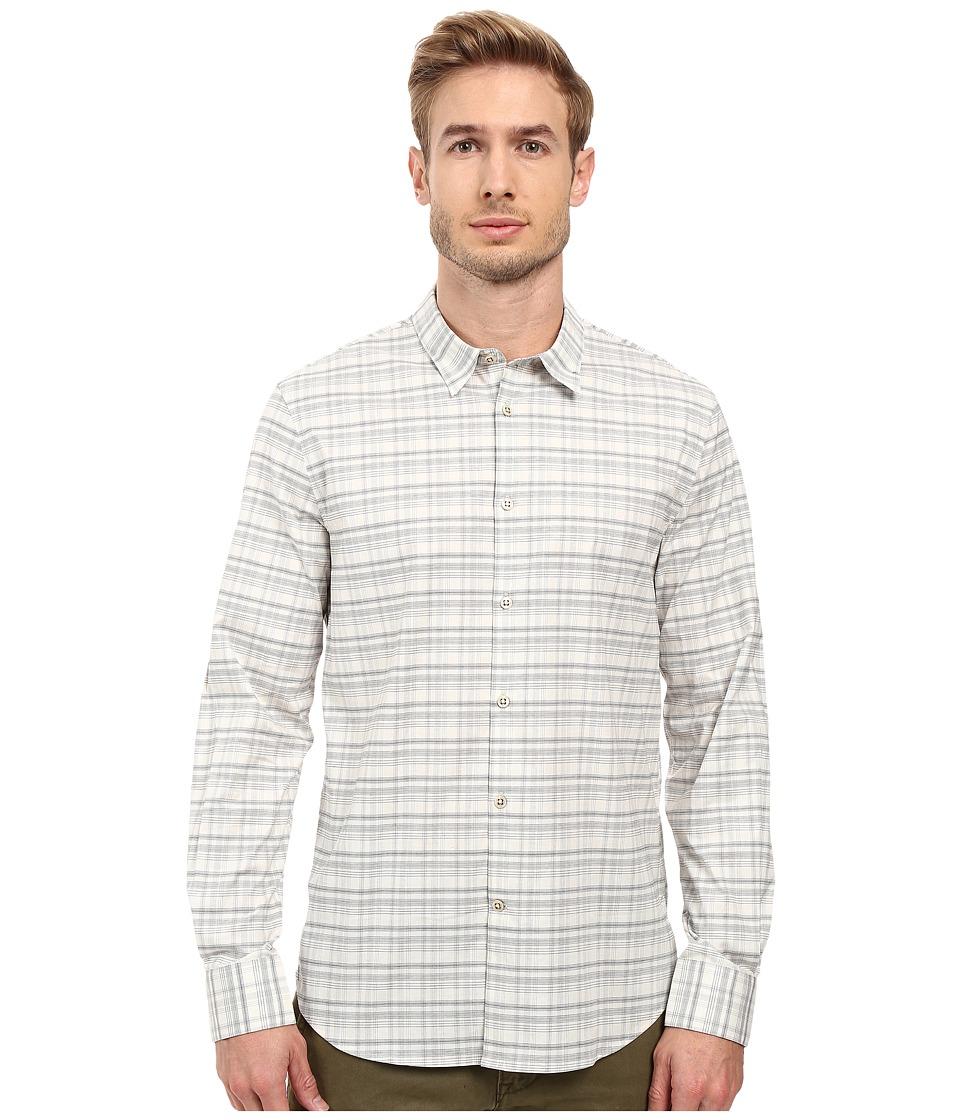 John Varvatos Star U.S.A. - Slim Fit Sport Shirt with Contrast Turnback Placket W434S2L (Chalk) Men's Long Sleeve Button Up