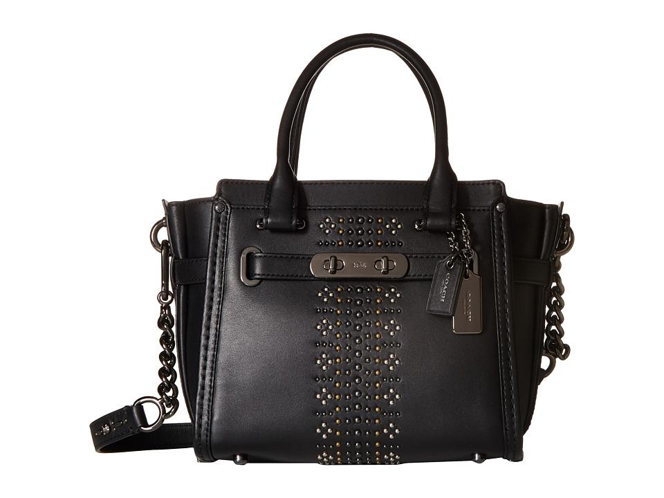 COACH - Bandana Rivets Coach Swagger 21 (DK/Black) Handbags