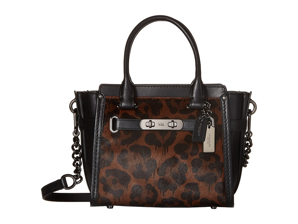 COACH - Printed Haircalf Swagger 21 (DK/Wild Beast) Handbags