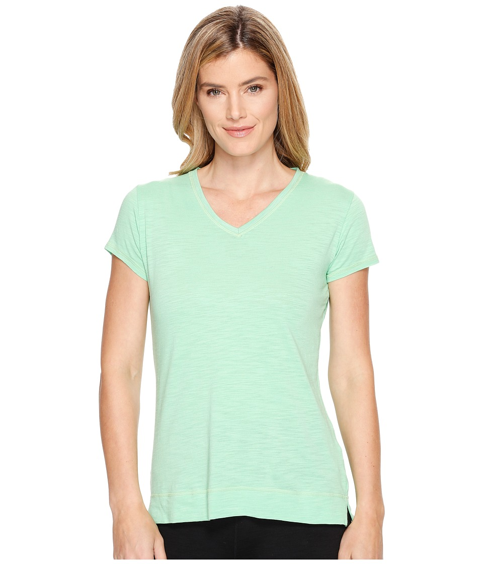 tasc Performance - Streets V Top (Spring Green Slubbed) Women's Clothing