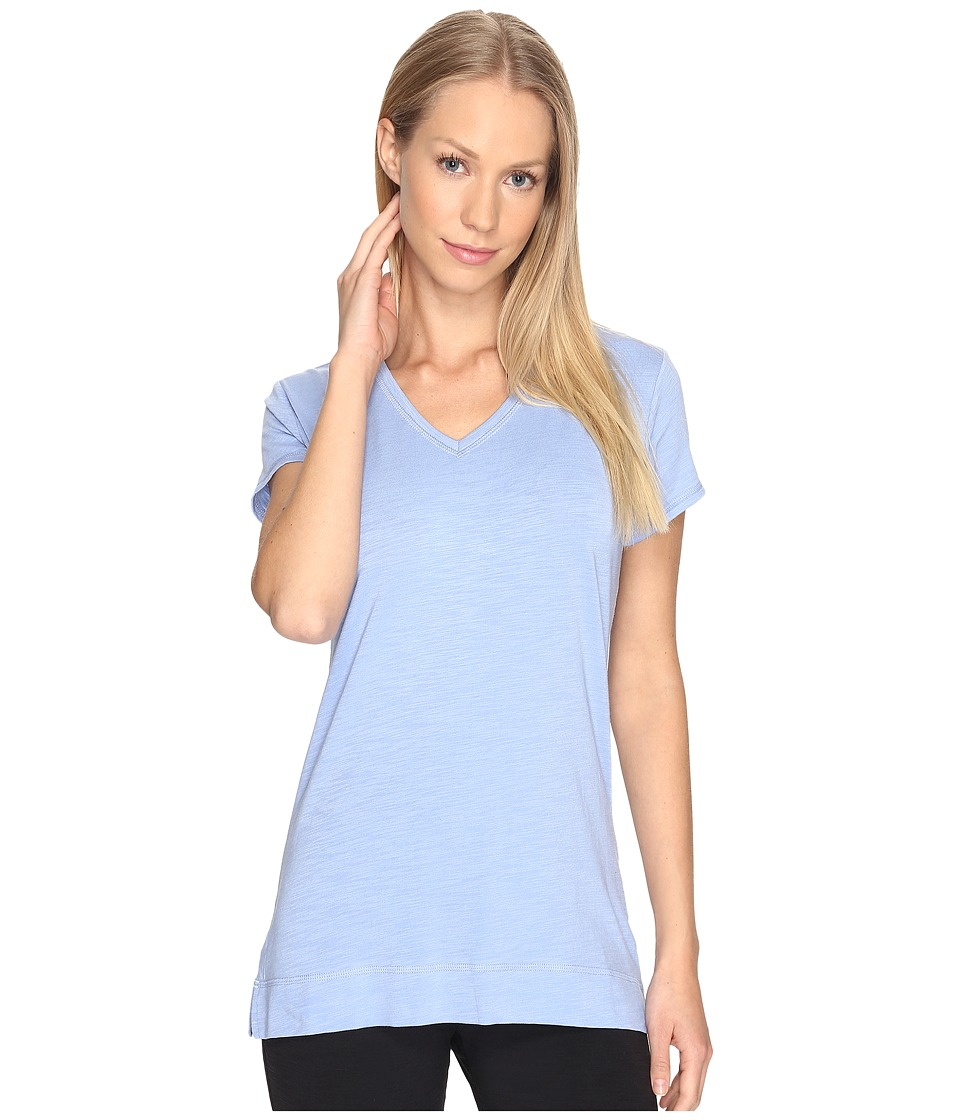 tasc Performance - Streets V Top (Periwinkle Slubbed) Women's Clothing