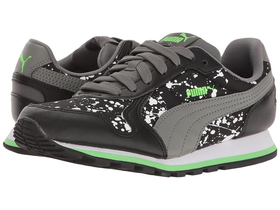 Puma Kids - St Runner NL Splatz Jr (Big Kid) (Puma Black/Quiet Shade) Boys Shoes