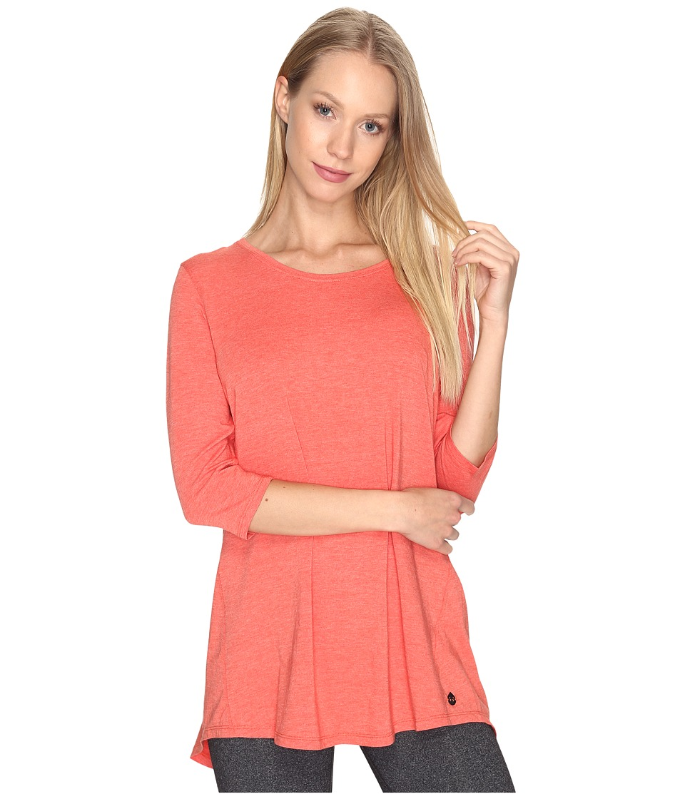 tasc Performance - Streets 3/4-Sleeve (Red Sky Heather) Women's Clothing