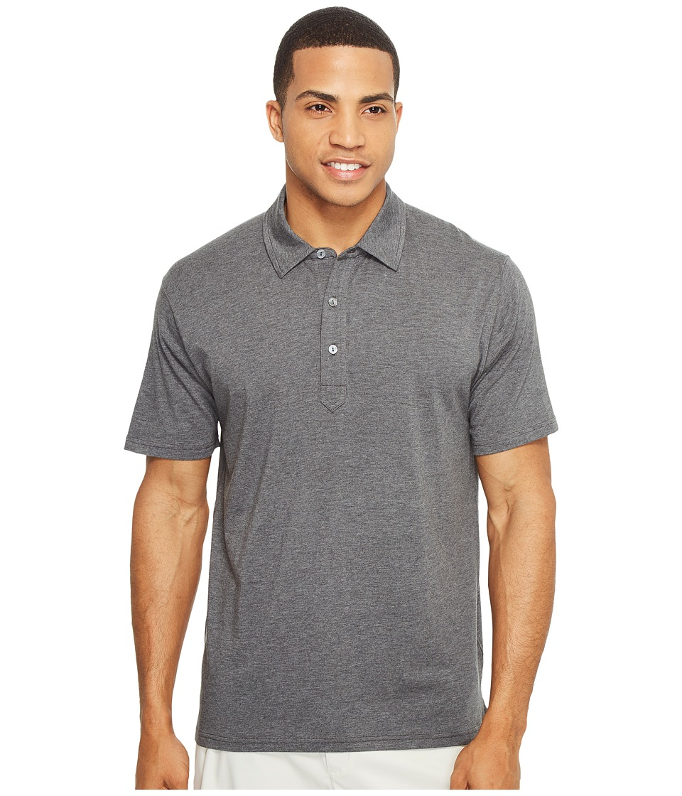 tasc Performance - Air Stretch Polo (Black Heather) Men's Clothing
