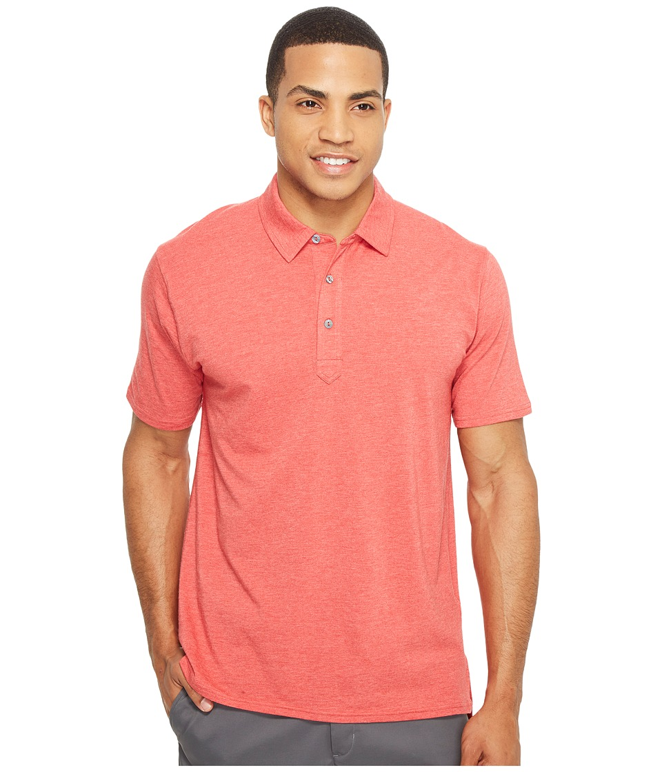 tasc Performance - Air Stretch Polo (Red Heather) Men's Clothing